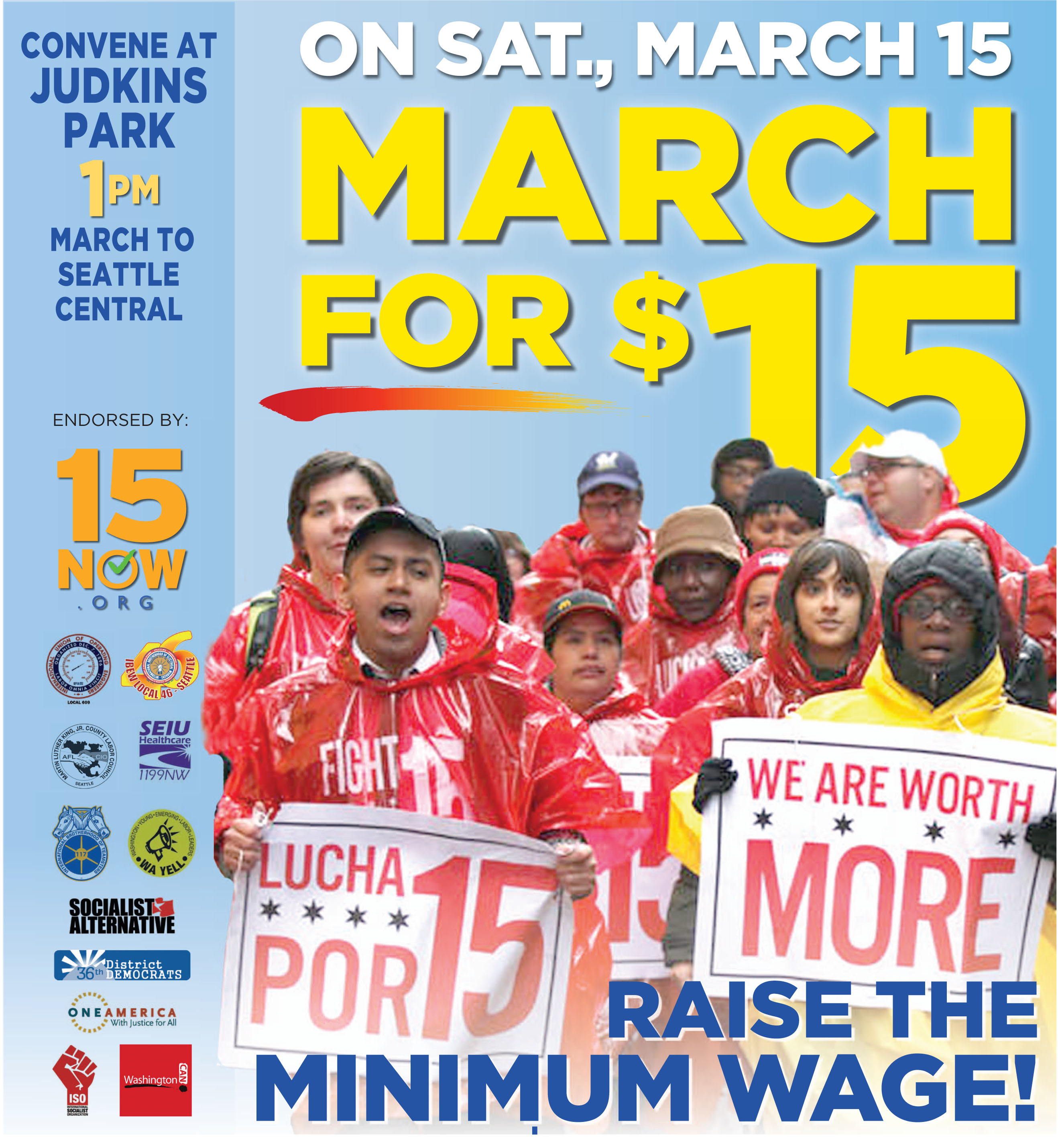 March for $15 Now Ad